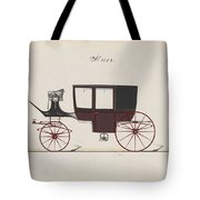 Design For Glass Panel Coach, No. 3132 1875 Tote Bag