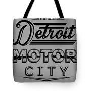 Detroit Motor City Tote Bag