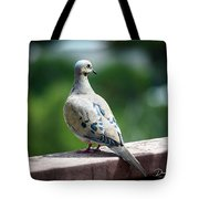 Dove On The Deck Tote Bag