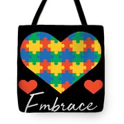 1 Embrace Differences Tote Bag