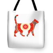 Fire Flower Cats Tote Bag