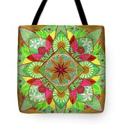 Flower Garden Mandala Tote Bag