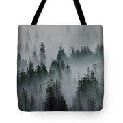 Foggy Yosemite Tote Bag