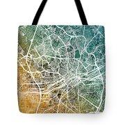 Frankfurt Germany City Map Tote Bag