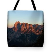 Glowing Mountains Tote Bag