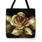 Antique Gold Rose Tote Bag