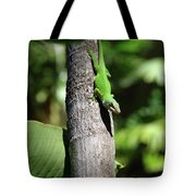Green Lizard Tote Bag