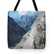 Grey Mountains Tote Bag