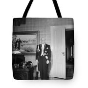 In The Photo The New President Of The Republic Urho Kekkonen Is Photographed At The Presidential Pa Tote Bag