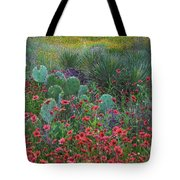 Indian Blanket Flowers And Opuntia Tote Bag