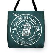 Indian Motorcycle Old Vintage Logo Green Background Tote Bag