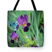 Iris In The Cottage Garden Tote Bag