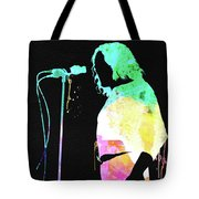 Joe Cocker Watercolor Tote Bag