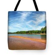 Drought-stricken Lake Hartwell Tote Bag by Bernd Laeschke