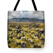 Lava Field Of Iceland Tote Bag by David Letts