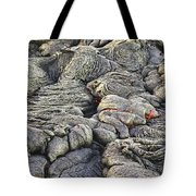 Lava Peeking At Us Tote Bag by Jim Thompson