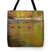 Little River In Autumn In Smoky Mountains National Park Tote Bag