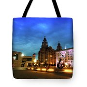 Liverpool's Historic Waterfront Tote Bag