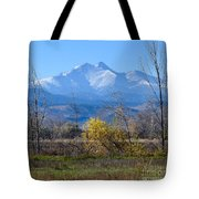 Longs Peak In The Fall  Tote Bag