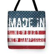 Made In Newbury, New Hampshire Tote Bag
