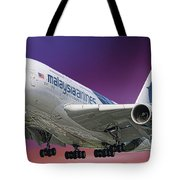 Malaysia Airlines Airbus A380-841 Tote Bag