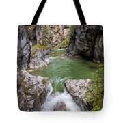 Maligne Canyon Tote Bag by Paul Schultz