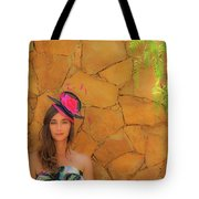 Mamin With Hat Tote Bag