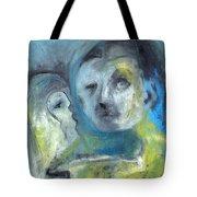 Man And Bird Tote Bag
