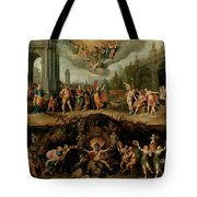 Mankind's Eternal Dilemma, The Choice Between Virtue And Vice Tote Bag