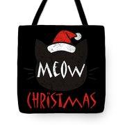 Meow Christmas Distressed Tote Bag