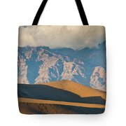 Mesquite Flat Sand Dunes At Sunset Tote Bag