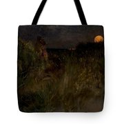 Moonrise Over The Dunes  Tote Bag