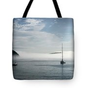 Morning Mist On Frenchman's Bay Tote Bag