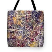 Munich Germany City Map Tote Bag