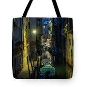 Night Walk In Venice Tote Bag