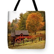 Old Crawford Farm Grist Mill Tote Bag by Jeff Folger