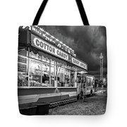 On The Midway - Temptations Of The Night 4 Bw Tote Bag