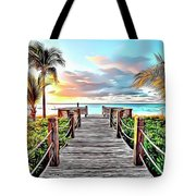 1 Paradise Pier Tote Bag