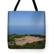 Photography View Over The Mountain Village Erice In Sicily Tote Bag