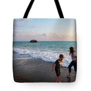 Playing Barefooted At Aphrodite's Birthplace Tote Bag