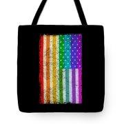 Rainbow Us Flag Tote Bag