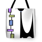 Rectangle Cat 2 Tote Bag by Donna Mibus