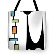 Rectangle Cat Tote Bag by Donna Mibus
