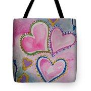 Seven Hearts Tote Bag