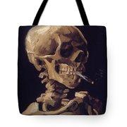 Skull With Cigarette  Tote Bag
