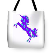 Snowman Wrapping Paper Unicorn Tote Bag
