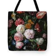 Still Life With Flowers In A Glass Vase, 1683 Tote Bag