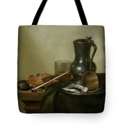 Still Life With Tobacco  Wine And A Pocket Watch  Tote Bag