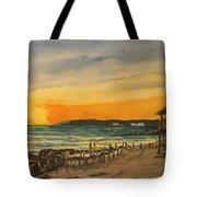 Sunset On Bradenton Beach, Fl. Tote Bag