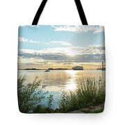 Sunset On The Elbe Tote Bag